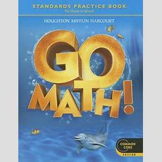Go Math! Student Practice Book Grade K  Edition 1 By Houghton Mifflin Harcourt 9780547588124