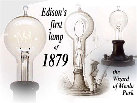 Light Bulb 1879 Thomas Edison Invention