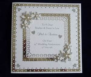 25th 60th silver or diamond wedding anniversary card large With images of diamond wedding anniversary cards