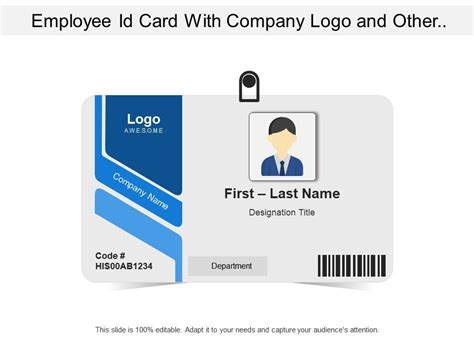employee id card  company logo   related