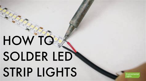 how to solder led lights