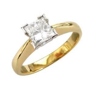 princess cut engagement rings gold 18k yellow gold princess cut engagement ring ipunya