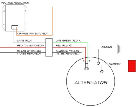 wiring diagram one wire alternator wiring diagram chevrolet one wire alternator wiring