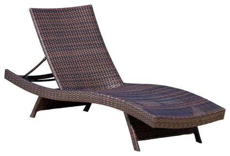 lakeport outdoor wicker lounge contemporary outdoor chaise