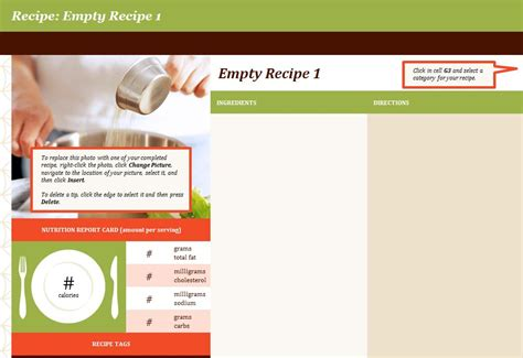 recipe template excel recipe template recipe book template