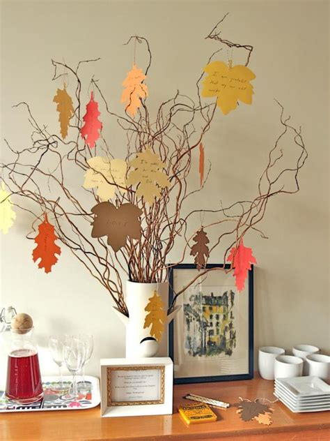 thanksgiving tradition create  thankful tree hgtv