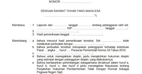 contoh surat pernyataan disiplin kerja contoh oren