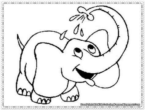 Elephant Coloring Pages Printable Free Printable Kids