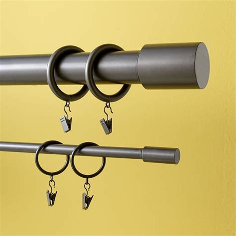 West Elm Drapery Hardware by Metal Curtain Rings West Elm
