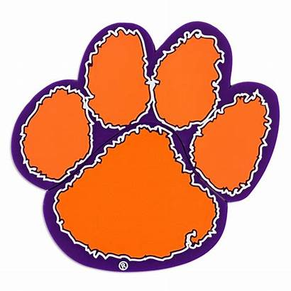 Clemson Paw Tiger Clipart Tigers Clip Cliparts