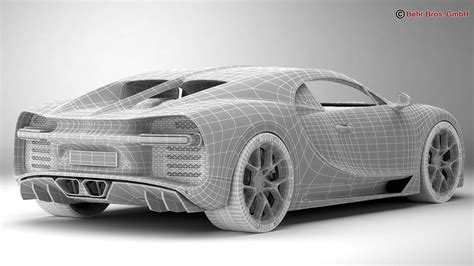 As the successor to the bugatti veyron.the chiron was first shown at the geneva motor show on march 1, 2016.the car is based on the bugatti vision gran turismo concept car. Bugatti Chiron 2017 3D Model - FlatPyramid