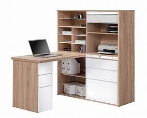 Bureau Avec Rangement : bureau angle avec rangement ~ Teatrodelosmanantiales.com Idées de Décoration