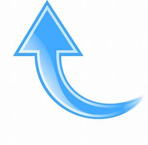Free Rounded Arrow Clipart Image - 5658, Blue Curved Arrow ...
