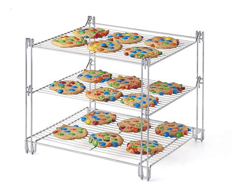 bakers cooling rack 3 tier collapsible baker s cooling rack kovot