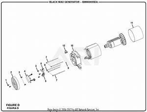 Homelite Bm903655da 3650 Watt Generator Parts Diagram For Figure D