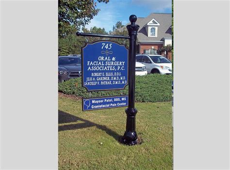 post and panel signs metal wooden