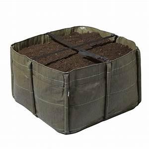 Geotextile Pour Carré Potager : carr potager en g otextile 140 litres bacsquare 4 bacsac ~ Melissatoandfro.com Idées de Décoration