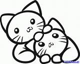 Coloring Kitten Outline Pages Popular sketch template