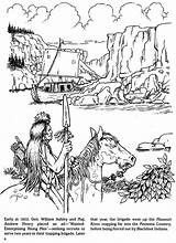 Coloring Pages Dover Publications Trapper Indian Doverpublications Books Trapping Fur Mountain Adult Welcome Native History Samples Sketch Template Zb sketch template