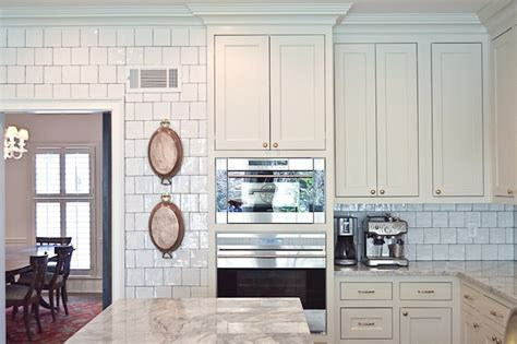 Glazed Kitchen Backsplash   Transitional   kitchen