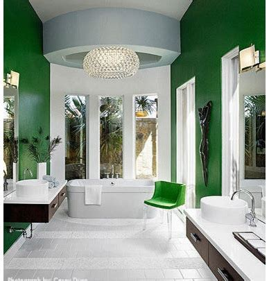 Green & White Modern Bathroom Paint Colors Ideas Home