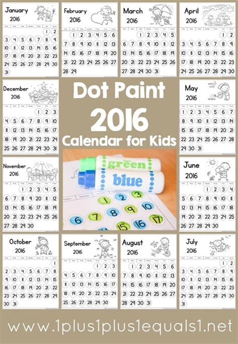 dot paint  calendar  homeschool deals