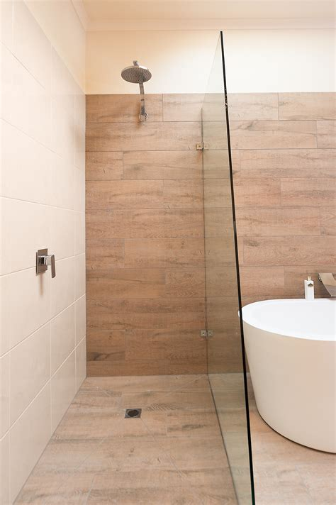 ceramic timber tiles bathroom renovation in belmont
