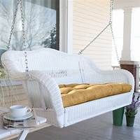 wicker porch swings Getting Ready for Summer: Enliven Your Porch With Comfy Swings