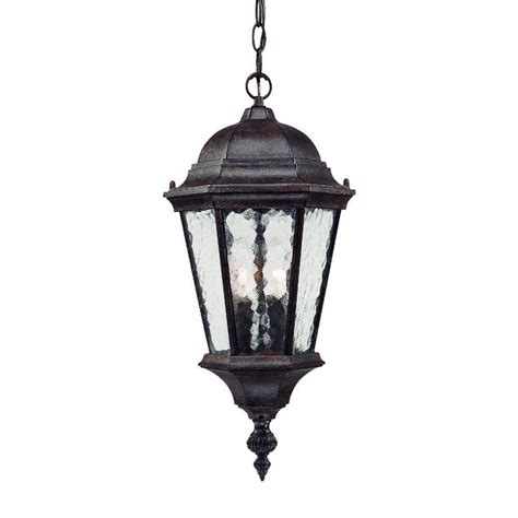 Hanging Porch Light Fixtures by Acclaim Lighting Telfair Collection 2 Light Black Coral