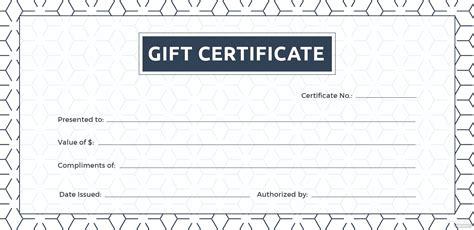 blank gift certificate template  adobe illustrator