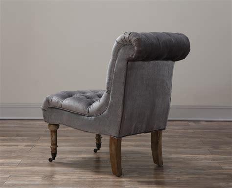 Vivi Grey Velvet Slipper Chair From Tov (tov-a41