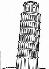 Buildings Famous Coloring Pages Print Coloringpages24 sketch template