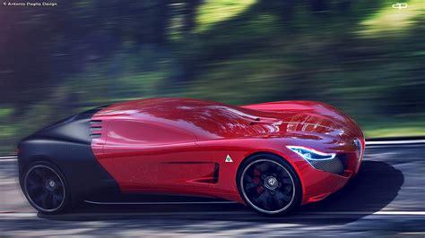 Alfa Romeo by Alfa Romeo C18 Design Study Is A Futuristic 8c