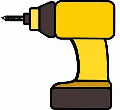 Drill Clipart Tools Clip Drills Cliparts Gold
