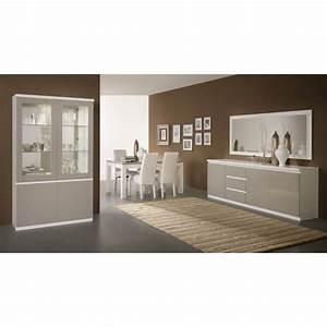 Miroir Salle A Manger : miroir de salle manger design 180 cm laqu blanc jewel matelpro ~ Teatrodelosmanantiales.com Idées de Décoration