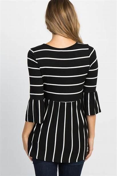 Peplum Blusas Ruffle Diana Striped Shoppinkblush Guardado