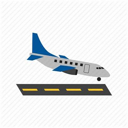 Landing Airplane Plane Runway Icon Airport Fly