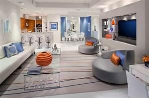 Moderne Wohnzimmer Farben : luxus wohnzimmer einrichten 70 moderne einrichtungsideen ~ Michelbontemps.com Haus und Dekorationen