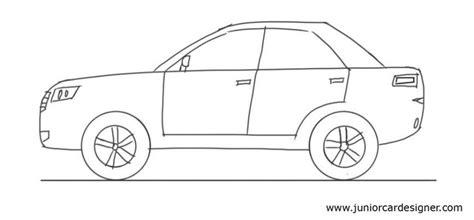 kid car drawing car drawing tutorial 4 door car side view car drawing