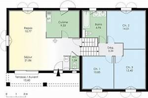 villa a energie positive detail du plan de villa a With plan maison demi niveau 7 plan maison 4 chambres maison moderne