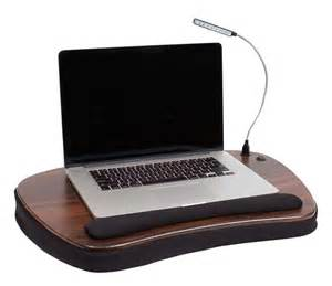 sofia sam deluxe memory foam lap desk with usb light black
