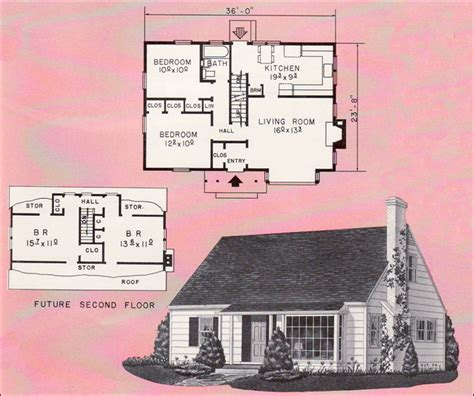 Cape Cod Style Homes Interior - weyerhauser house plan small 1961 cape cod style home design no 4142 mid century