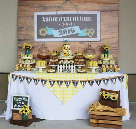 rustic sunflower graduation party   party planning
