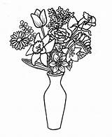 Vase Coloring Bouquet Flower Pages Colouring Template Thin Remove Clipart Vases Lovely Printable Drawings Colorluna Activities Floreros Dibujos Para Colorear sketch template