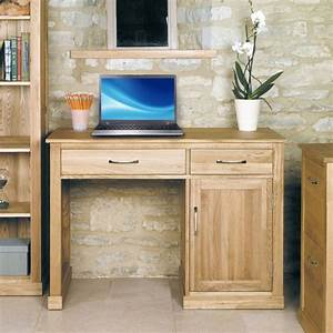 Mobel Oak Single Pedestal Computer Desk Was 48000 Now