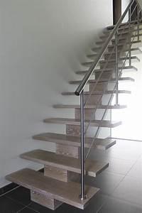 Rampe D Escalier Moderne : cuisine d 39 hondt interieurescaliers d 39 hondt interieur rampe escalier bois moderne rampe d ~ Melissatoandfro.com Idées de Décoration