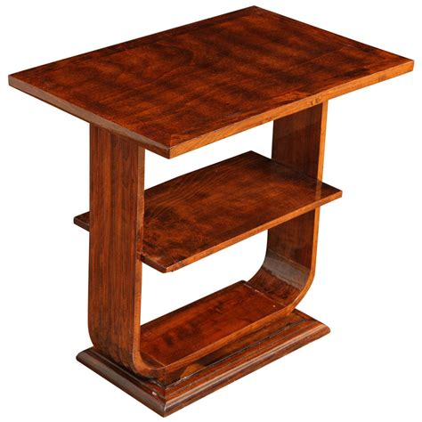 deco shelving art deco side table with shelves at 1stdibs