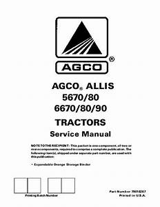 Agco Technical Publications  5670    5680  6670    6680