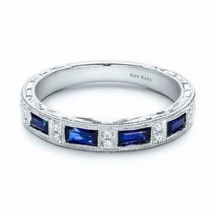 Wedding Rings With Engraved Kirk Kara Sapphire Wedding Rings