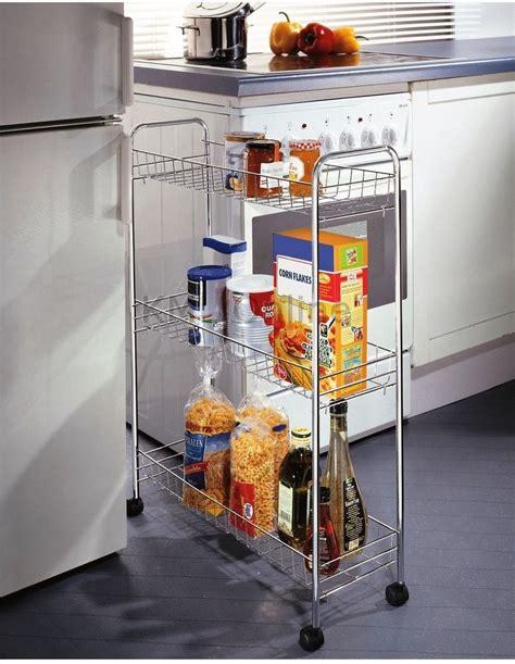 slimline kitchen storage new 3 tier chrome kitchen slim vegetable fruit food 2325